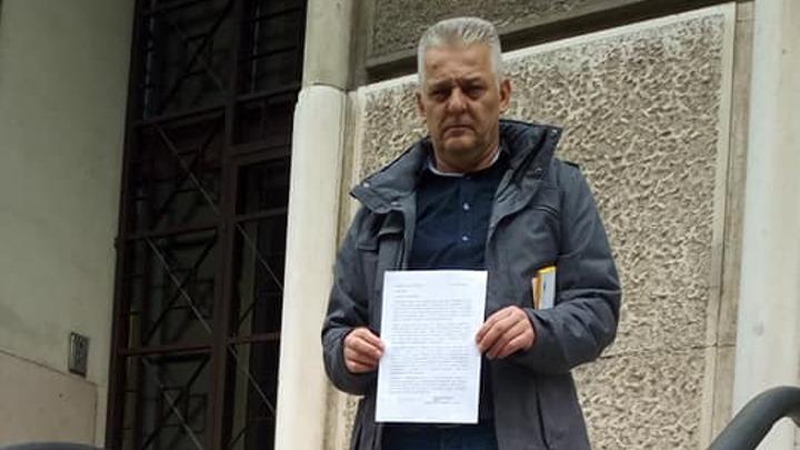 Dragoslav Ljubičić ispred Apelacionog suda