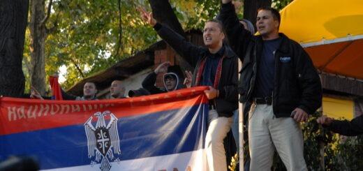 Goran Davidović i Dolf Pospiš tokom skupa u Novom Sadu