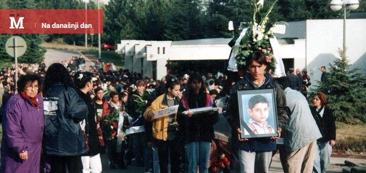 Sahrana dečaka Dušana Jovanovića; Foto: Romani Antifašističko Akcija / Facebook