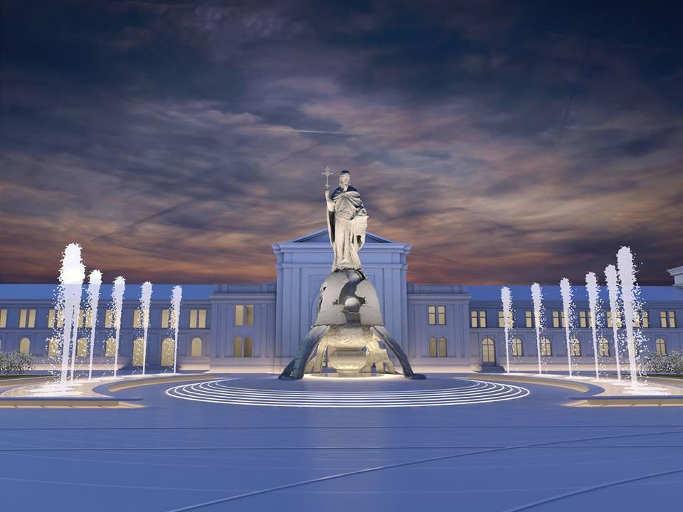 Idejno rešenje spomenika; Izvor: gradnja.rs