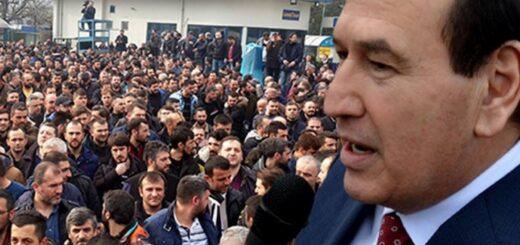 Abdulah Karacan govori na sindikalnom skupu