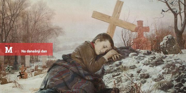 """Uroš Predić, """"Siroče na majčinom grobu"""", 1888."""