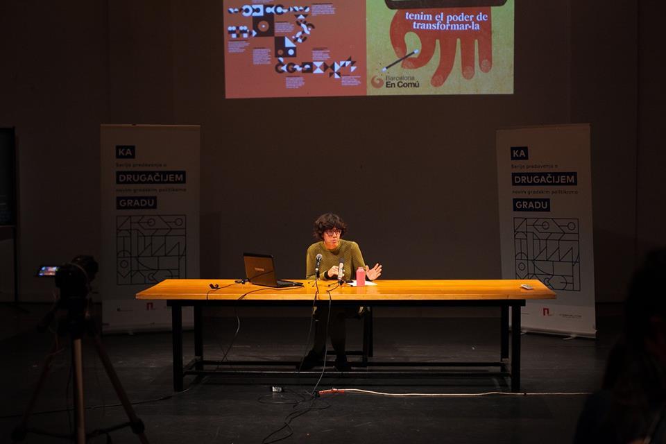 Ana Méndez de Andés tokom izlaganja u CZKD-u; Foto: Dušan Rajić