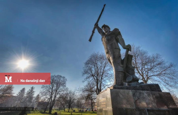 Spomenik Husinski rudar u Tuzli; Antifašistički vjesnik / Facebook