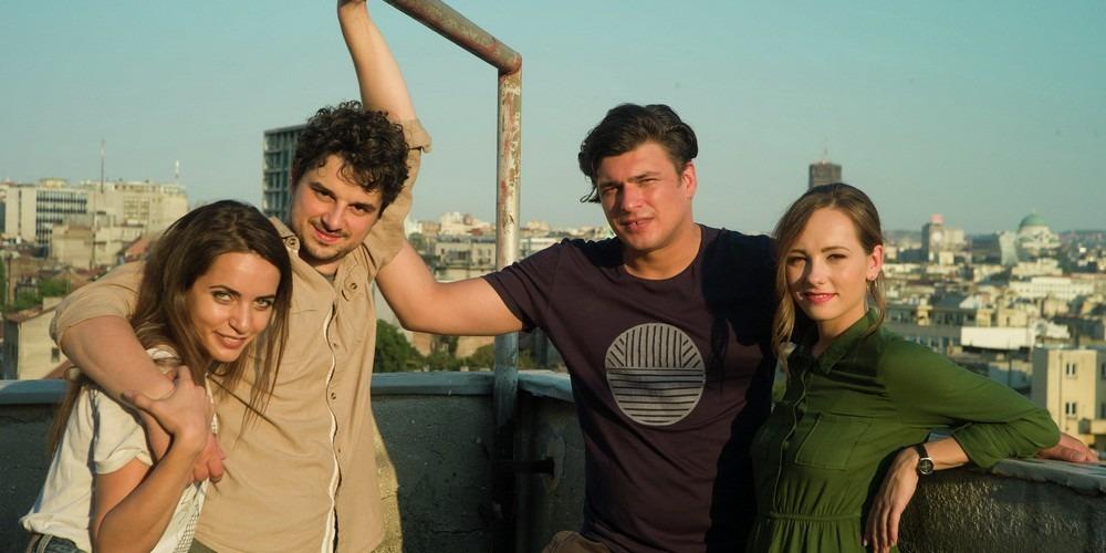 Nikola Rakočević, Andrija Kuzmanović, Jovana Stojiljković i  Isidora Simijonović; vodeća glumačka postava serije