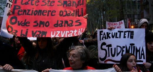 "Jedan od protesta ""Protiv diktature"", april 2017; Foto: Marko Miletić / Mašina"