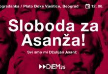 Protest za odbranu Asanža i slobode govora
