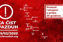 Borba za čist vazduh: najavljeni protesti i skupovi u preko dvadeset gradova