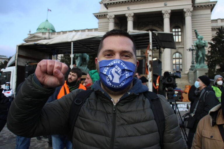 Miran Pogačar, predsednik Udruženja radnika na internetu; Foto: Marko Miletić / Mašina