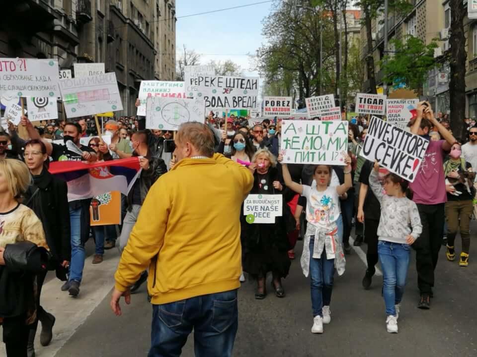 Ekološki ustanak, Beograd, 10. april 2021; Foto: Marko Miletić / Mašina