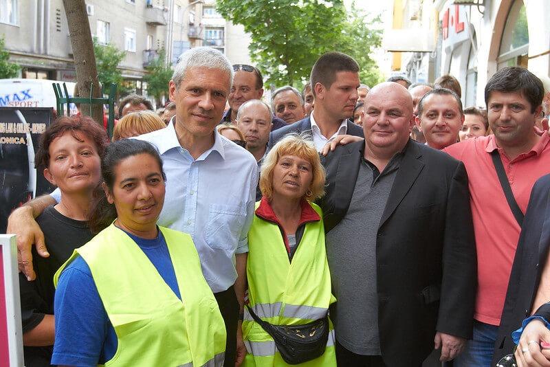 Dragan Marković Palma i Boris Tadić sa građanima Jagodine