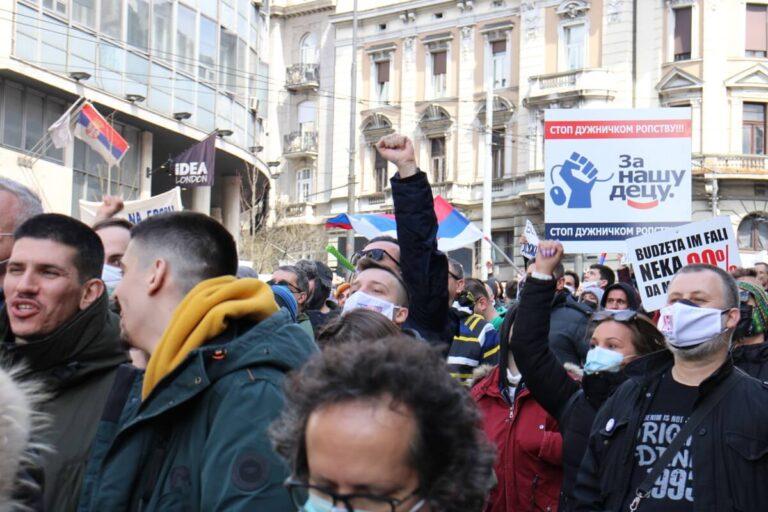 Protestna šetnja frilensera u Beogradu